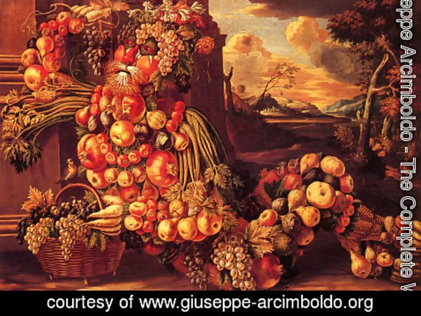 Giuseppe Arcimboldo - Seated Figure of Summer  1573