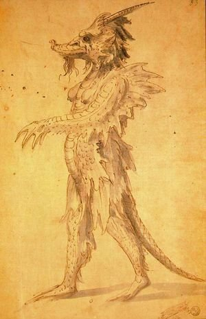 Giuseppe Arcimboldo - Design of a dress for Cancerbero