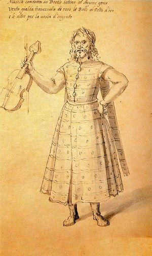 Giuseppe Arcimboldo - Design of a dress for Music