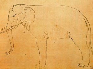 Giuseppe Arcimboldo - Drawing of an elephant