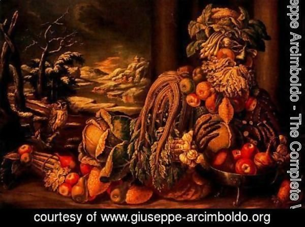 Giuseppe Arcimboldo - The Winter 2