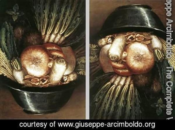 Giuseppe Arcimboldo - Vegetables In A Bowl Or The Gardener