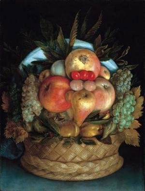 Giuseppe Arcimboldo - Fruits in a basket