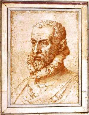 Giuseppe Arcimboldo - Self-Portrait on Paper